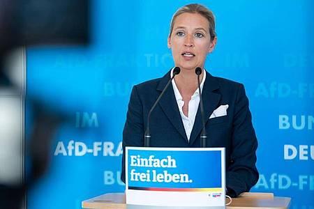 Alice Weidel, Spitzenkandidatin der AfD für die Bundestagswahl am 26. September. Foto: Bernd von Jutrczenka/dpa
