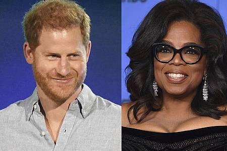 Prinz Harry und Oprah Winfrey haben gemeinsam eine Doku-Serie entwickelt. Foto: Uncredited/AP/dpa