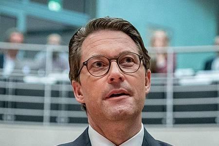 Verkehrsminister Andreas Scheuer kommt als Zeuge vor den Maut-Untersuchungsausschuss des Bundestags. Foto: Michael Kappeler/dpa