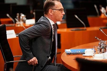 Heiko Maas wird die Außenminister von Israel und den Vereinigten Arabischen Emiraten empfangen. Foto: Hannibal Hanschke/POOL Reuters/dpa/Archiv