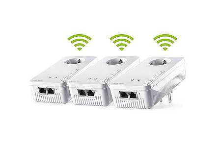 Bei Devolos neuen Mesh-WLAN-Paketen sind alle Module auch gleichzeitig WLAN-Zugangspunkte. Foto: Devolo/dpa-tmn