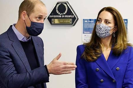 Prinz William und Herzogin Kate beim Besuch des Sozialzentrums Turning Point Scotland. Foto: Phil Noble/PA Wire/dpa