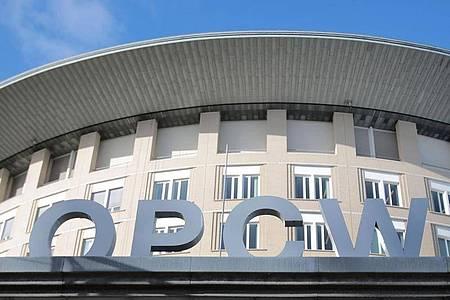 Der Sitz der Organisation für das Verbot chemischer Waffen (OPCW) in Den Haag. Foto: Oliver Berg/dpa
