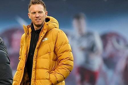 Trägt weiterhin nur privat schwarz-gelb: Leipzig-Coach Julian Nagelsmann. Foto: Jan Woitas/dpa-Zentralbild/dpa