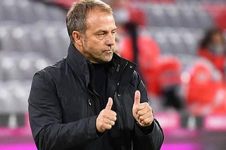 Trifft mit Bayern auf Underdog Düren:Coach Hansi Flick. Foto: Sven Hoppe/dpa