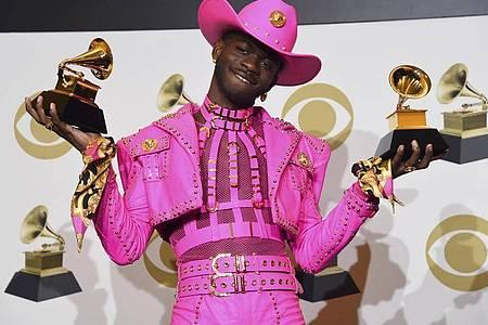 Der US-amerikanische Rapper Lil Nas X bei der Grammy-Verleihung 2020. Foto: Chris Pizzello/Invision/AP/dpa