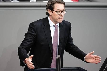Muss sich den Fragen des Maut-Ausschusses stellen: Verkehrsminister Andreas Scheuer. Foto: Kay Nietfeld/dpa