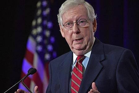 Mitch McConnell, republikanischer Senator aus Kentucky und Mehrheitsführer im Senat, fängt sich harsche Kritik von Trump ein. Foto: Timothy D. Easley/AP/dpa/Archiv