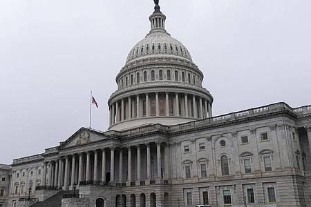Blick auf das Kapitol, dem Sitz des US-Kongresses. Foto: Jacquelyn Martin/AP/dpa