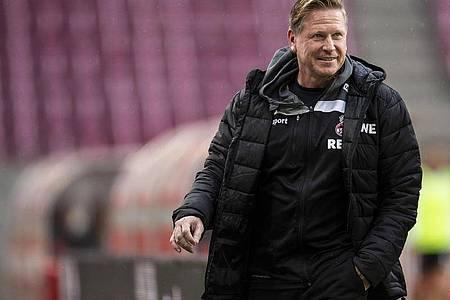 Trainer Markus Gisdol muss mit dem 1. FC Köln beim VfB Stuttgart antreten. Foto: Marius Becker/dpa