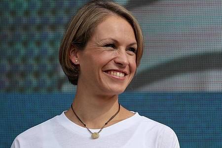 Magdalena Neuner erwartet wieder ein Baby. Foto: Daniel Karmann/dpa