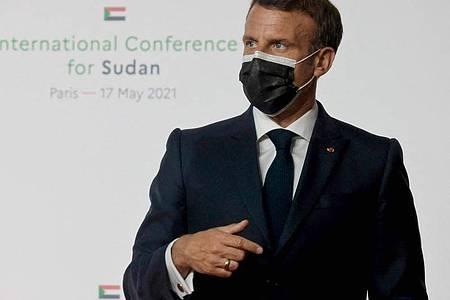 Emmanuel Macron, Präsident von Frankreich. Foto: Ludovic Marin/AFP/dpa