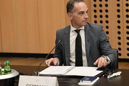Heiko Maas nimmt am Treffen der EU-Außenminister im Kongresszentrum Brdo teil. Foto: Darko Bandic/AP/dpa