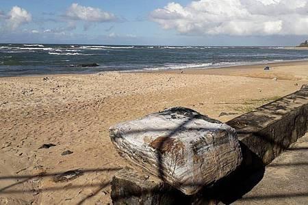 Ein angespülter Ballen am Strand. Foto: ---/Limpurb/dpa