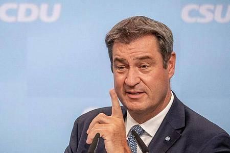 CSU-Chef Markus Söder ist zufrieden mit der Corona-Politik des Landes. Foto: Michael Kappeler/dpa
