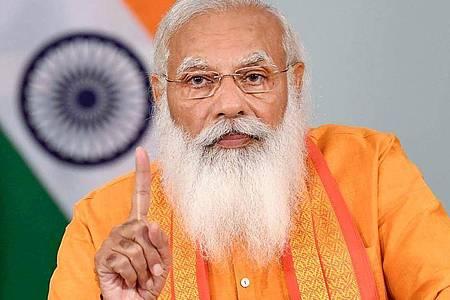 Der indische Premierminister Narendra Modi hat Geburtstag. Foto: -/Indian government via PTI/dpa