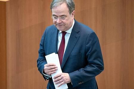 Unter Kanzlerkandidat Armin Laschet schneidet die Union im ZDF-«Politbarmeter» so schlecht ab wie nie. Foto: Federico Gambarini/dpa