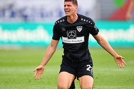 Stuttgarts Mario Gomez blieb in Kiel erfolglos. Foto: Stuart Franklin/Getty Images Europe/Pool/dpa