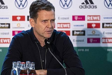Nimmt die Nationalspieler in die Pflicht: DFB-Direktor Oliver Bierhoff. Foto: Thomas Boecker/DFB/dpa