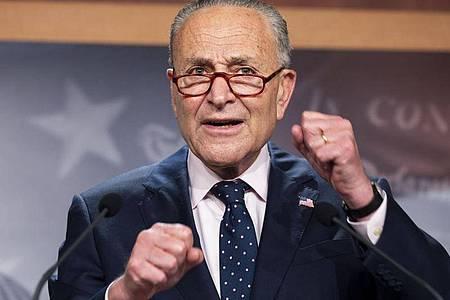 Chuck Schumer, Mehrheitsführer der Demokraten im US-Senat. Foto: Michael Brochstein/ZUMA Press Wire/dpa