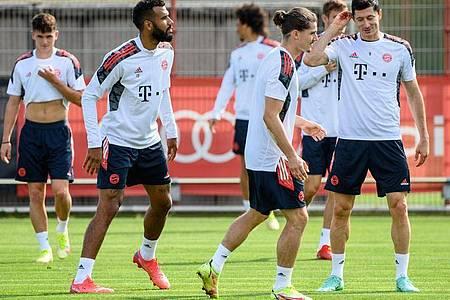 Abschlusstraining der Spieler des FC Bayern in München. Foto: Matthias Balk/dpa