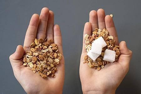 Zu viel Zucker ist ungesund, nicht nur für die Zähne. Foto: Florian Schuh/dpa-tmn