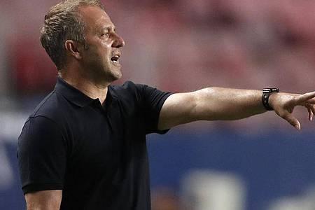Bayern-Trainer Hansi Flick hatte sein Team gut eingestellt. Foto: Manu Fernandez/AP Pool/dpa
