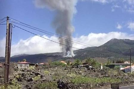 Auf der Kanareninsel La Palma ist einVulkan ausgebrochen. Foto: Carlota Manuela Martin Fuentes/AP/dpa