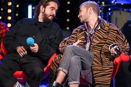 Tom (l) und Bill Kaulitz bei der Radioshow ?Friends of 2020? des Senders MDR Sputnik. Foto: Jan Woitas/dpa-Zentralbild/dpa
