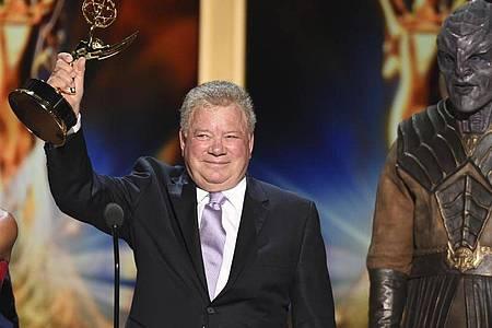 William Shatner 2018 im Microsoft Theater bei der Verleihung der Creative Arts Emmy Awards. Foto: Phil Mccarten/Invision/dpa