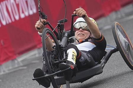 Holte in Tokio auch eine Medaille im Straßenrennen: Annika Zeyen. Foto: Marcus Brandt/dpa