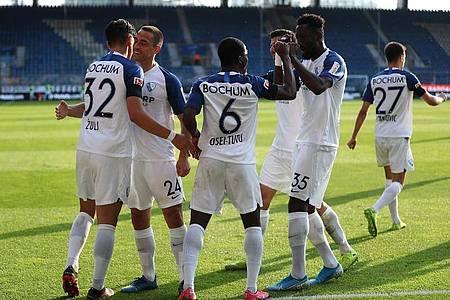 Der VfL Bochum feierte gegen Holstein Kiel einen Heimsieg. Foto: Lars Baron/Getty Images Europe/Pool/dpa