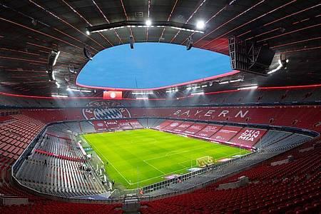 Die menschenleere Allianz Arena vor einem Spiel. Foto: Sven Hoppe/dpa