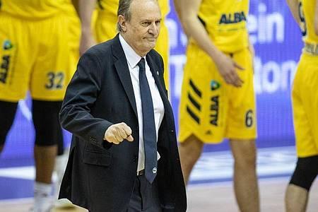 Wurde positiv auf das Coronavirus getestet: Alba-Coach Aito Garcia Reneses. Foto: Andreas Gora/dpa