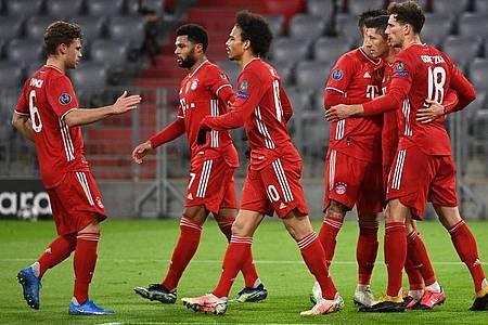 Der FC Bayern München setzte sich souverän gegen Lazio Rom durch. Foto: Sven Hoppe/dpa