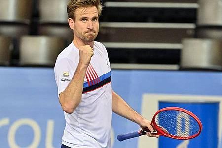 Erreichte bei den US Open die zweite Runde: Peter Gojowczyk. Foto: Pascal Guyot/AFP/dpa