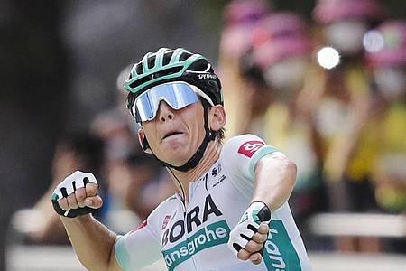 Hat seine bisher beste Saison als Radprofi hinter sich: Tour-Etappensieger Lennard Kämna. Foto: Christophe Ena/AP/dpa