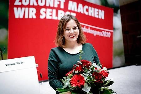 Die neue Juso-Bundesvorsitzende Jessica Rosenthal. Foto: Kay Nietfeld/dpa