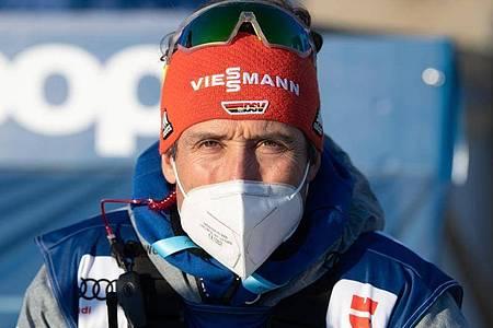 Teamchef der deutschen Langläufer: Peter Schlickenrieder. Foto: Sebastian Kahnert/dpa-Zentralbild/dpa