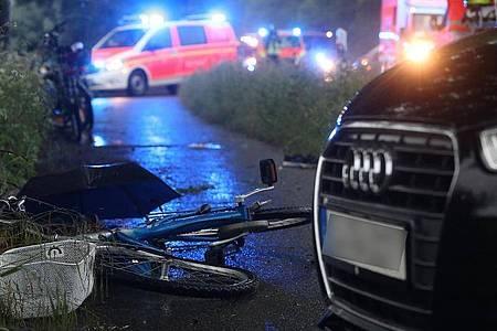 Eine Zwölfjährige wurde bei dem Unglück im Düsseldorfer Naturschutzgebiet Urdenbacher Kämpe lebensgefährlich verletzt - ihre Mutter musste mit einemSchock behandelt werden. Foto: David Young/dpa
