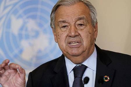 Antonio Guterres, Generalsekretär der Vereinten Nationen. Foto: John Minchillo/POOL AP/dpa