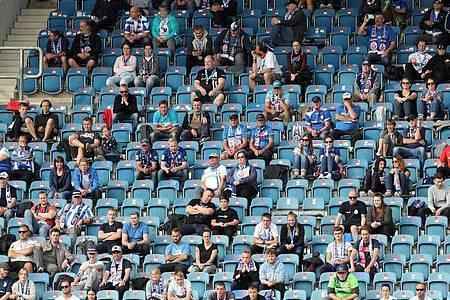 Hansa Rostock darf im Ostseestadion vor Zuschauern spielen. Foto: Bernd Wüstneck/dpa-Zentralbild/ZB