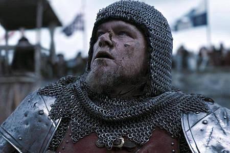 Matt Damon als Jean de Carrouges in einer Szene des mittelalterlichen Filmdramas «The Last Duel». Foto: Uncredited/20th Century Studios via AP/dpa