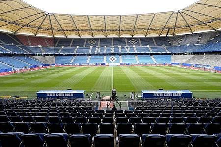 Das Spiel von Erzgebirge Aue beim Hamburger Sport Verein fällt wegen zwei Corona-Fällen offenbar aus. Foto: Stuart Franklin/Getty Images Europe/Pool/dpa