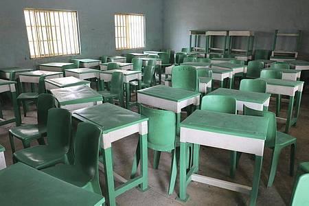 Aus dieser nigerianischen Schule wurden erst im Februar Hunderte Schulkinder verschleppt. Foto: Ibrahim Mansur/AP/dpa