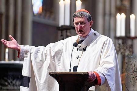 Kardinal Rainer Maria Woelki beim Ostergottesdienst im Kölner Dom. Foto: Henning Kaiser/dpa