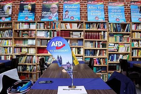 Die AfD liegt in Sachsen-Anhalt klar hinter der CDU. Foto: Jan Woitas/dpa