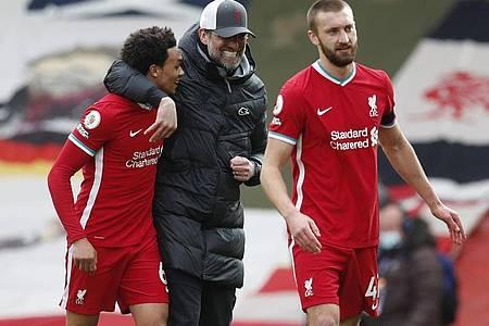 Nach acht sieglosen Heimspielen konnte Trainer Klopp mit seinen Liverpoolern wieder in Anfield gewinnen. Foto: Darren Staples/CSM via ZUMA Wire/dpa