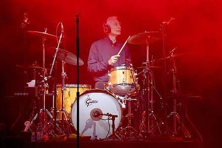 Drummer Charlie Watts bei einem Konzert in Hamburg 2017. Foto: picture alliance / Carsten Rehder/dpa
