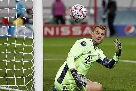 Bayerns Manuel Neuer lobt den Glauben der Mannschaft an sich selbst. Foto: Maxim Shemetov/Reuters Pool/dpa